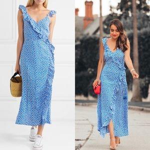 NEW Madewell Ruffled Mini Daisy Print Maxi Dress